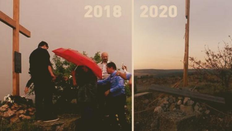 В Севастополе неизвестные повалили поклонный крест у горы Гасфорта