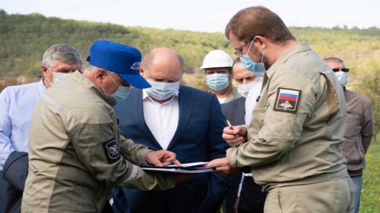 Губернатор Севастополя проверил ход подготовительных работ по строительству водозабора на реке Бельбек