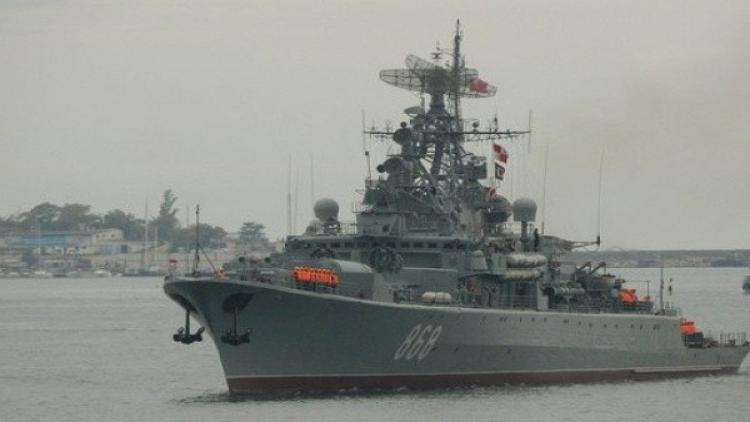 Сторожевой корабль «Пытливый» провел учение вакватории Черного моря