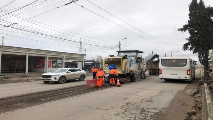 В Севастополе начали ремонтировать участок проспекта Героев Сталинграда